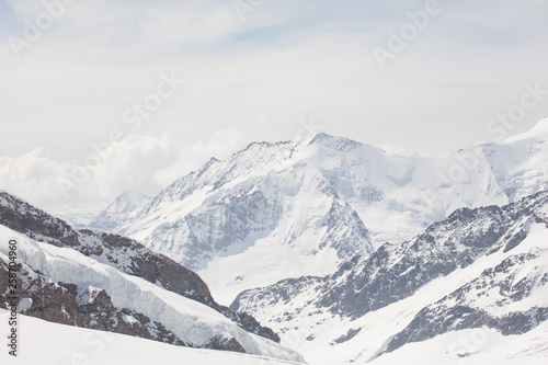 Jungfraujoch is a famous travel mountain of the Alps, Switzerland #258704960