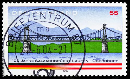 Fotografia Salzach River Bridge, Laufen - Oberndorf, serie, circa 2003