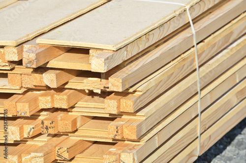 Fotografie, Obraz  construction batir maison logement immobilier bois