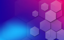 Abstract Colorful Hexagons Bac...