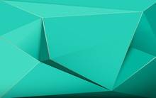 Abstract Green Luxury Polygons...