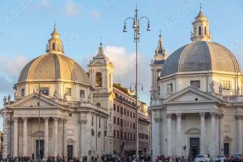 Obraz na płótnie Churches at  Piazza del Popolo