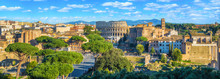Scenic Panorama Of Rome With C...