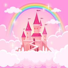 Castle Of Princess. Fantasy Fl...