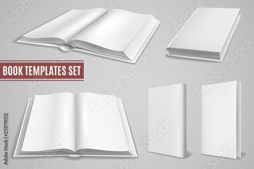 Fotografie, Obraz  White book templates