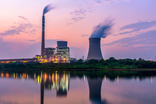 At Dusk, The Thermal Power Plants  , Cooling Tower Of Nuclear Power Plant Dukovany