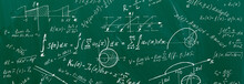 Close Up Of Math Formulas On A...