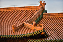Close-up Of Ancient Chinese Architectural Temples