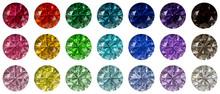 Set Of Multi Colored Round Bri...