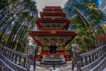 Toshogu Gojunoto (Five Story Pagoda) Shinto Shrine Of Nikko World Heritage Site Unesco, Tochigi, Japan