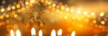 Festive Diwali Background With Ganesha Goddess
