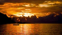 Sunset Over The Sea Indian Ocean Seychelles