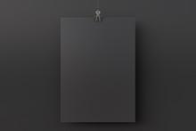 Blank Black Paper Poster Hangi...