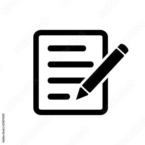 notatka ikona - fototapety na wymiar