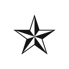 Five Pointed Star. Vector Illu...