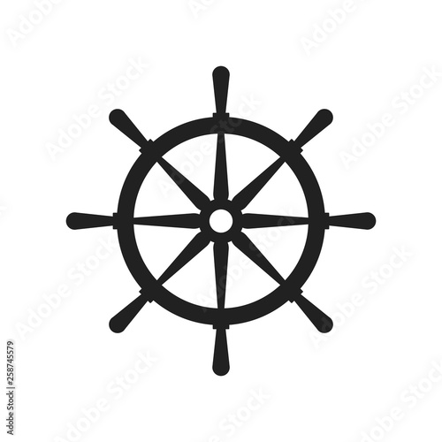 Photo  Ships helm icon. Vector illustration.