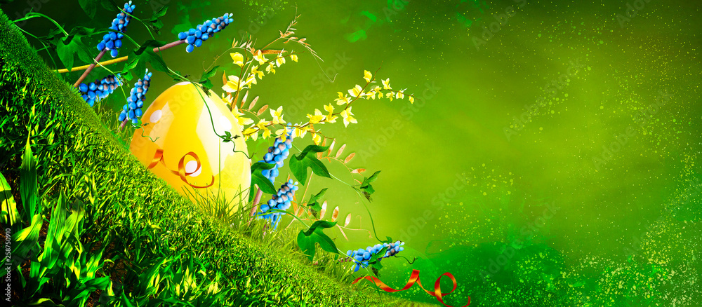 Happy easter. Spring background.