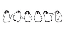 Penguin Vector Icon Logo Baby Cartoon Character Illustration Symbol Graphic Doodle