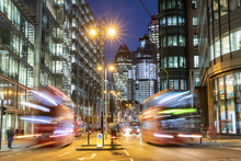London City View Traffic At Night