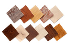 Set Of Small Samples Of Wooden...