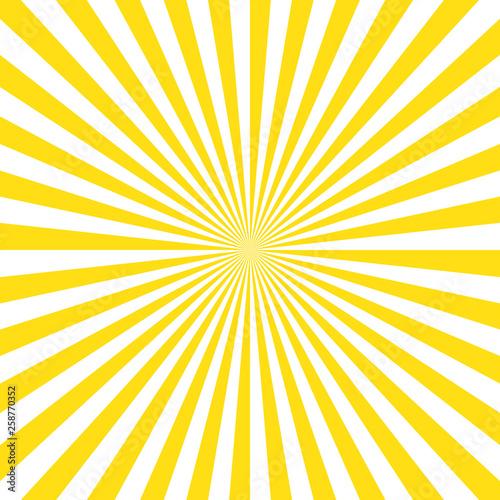 Fototapeta Yellow stripes sunrays background. Sunrays yellow color vector eps10 background. obraz na płótnie
