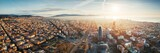 Fototapeta Most - Barcelona skyline aerial view