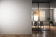 Modern Meeting Room With Blank...