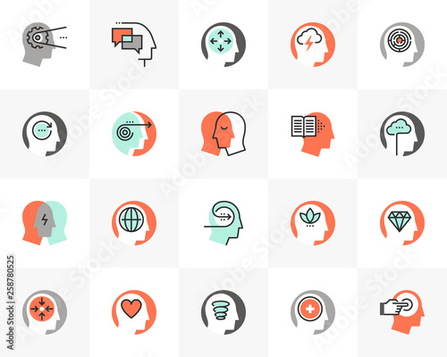 Mental Process Futuro Next Icons Pack Wall mural