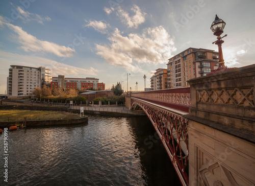 Crown point bridge in Leeds , West Yorkshire, UK Wallpaper Mural