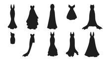 A Set Of Different Dresses. Mo...