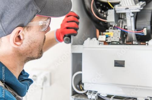 Fotografie, Obraz  Central Gas Heater Repair