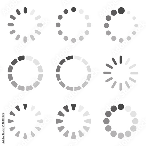Loading icon collection. Vector Wall mural