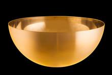 Empty Metalic Golden Bowl, Steel