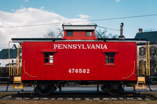 A Red Caboose In New Oxford, Pennsylvania