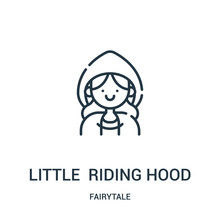 Little Red Riding Hood Icon Ve...