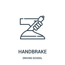 Handbrake Icon Vector From Dri...
