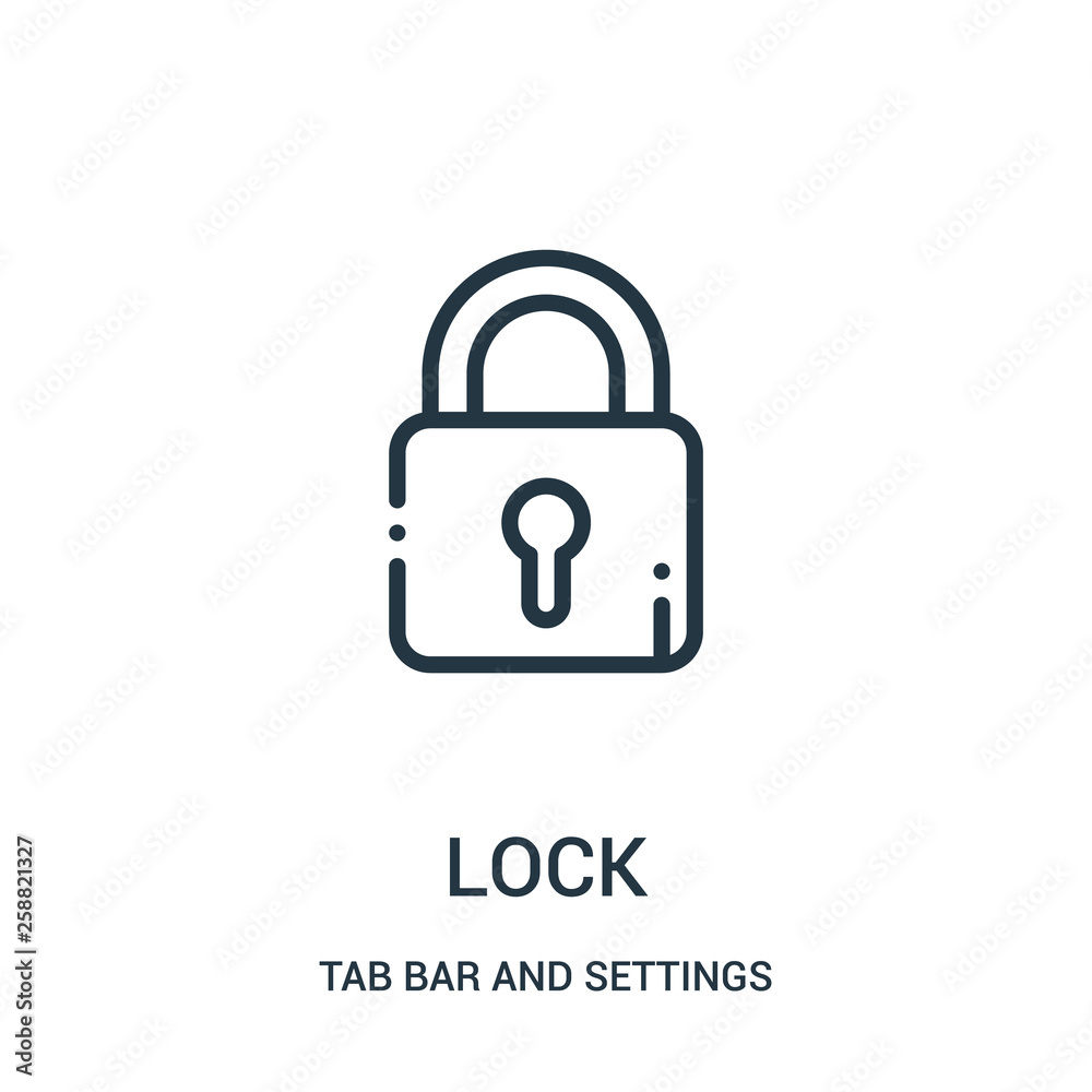 Fotografie, Obraz lock icon vector from tab bar and settings collection