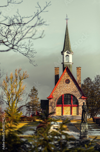 Grand Pre Church, Nova Scotia Canvas Print