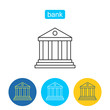 Money banking outline icons set.