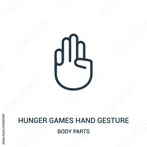 Fotografie, Tablou  hunger games hand gesture icon vector from body parts collection