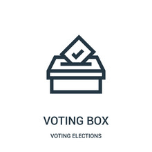 Voting Box Icon Vector From Vo...