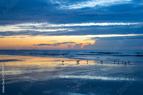 Canvas Prints Inspirational message Beautiful Florida sunrise in Cape Canaveral on the Atlantic Ocean