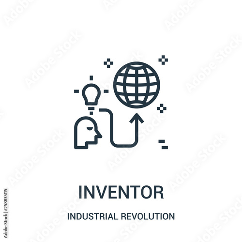 Fotografía inventor icon vector from industrial revolution collection