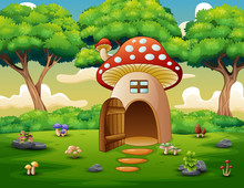 Mushroom House In The Forest B...