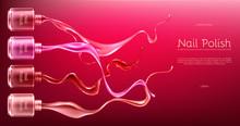 Red Or Pink Nail Polish 3d Rea...