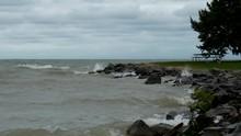 Waves Crash Upon A Rocky Shore...