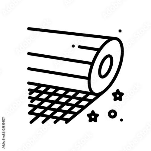 Photo Black line icon for fiberglass