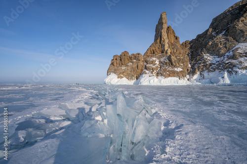 Frozen Baikal Lake In Winter Season Siberia Russia Buy This