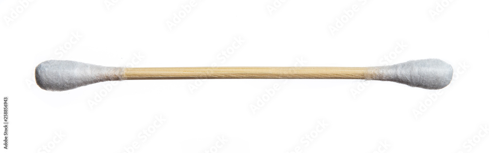 Fototapety, obrazy: Cotton bud wood stick or cotton swab isolated on white background