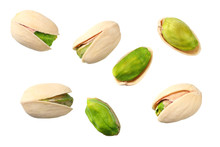 Pistachio Isolated On The Whit...